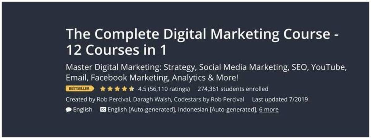 apprendre le marketing digital sur Udemy