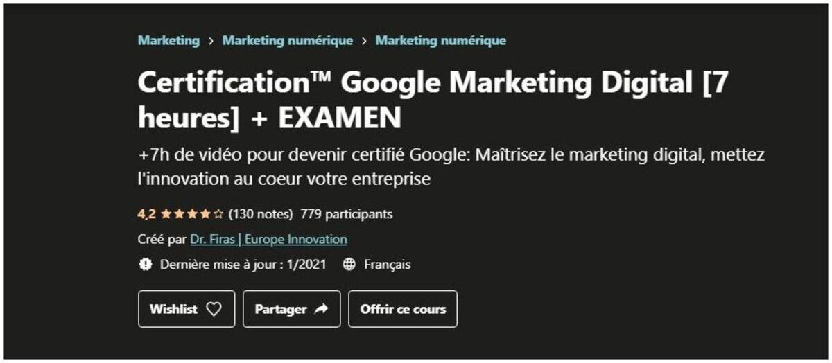 cours sur le marketing digital
