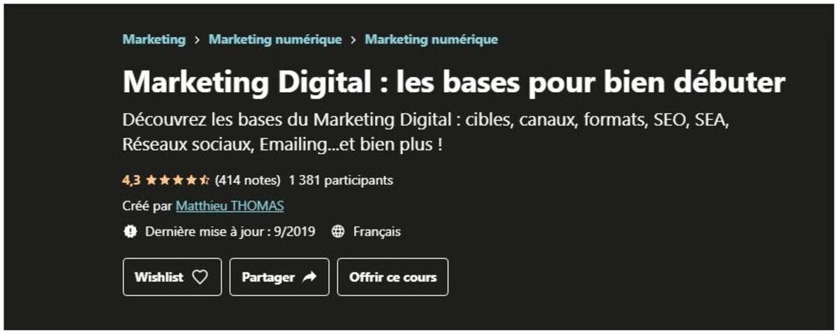formation sur les bases du marketing digital